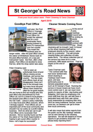 St Georges Road News March 2019