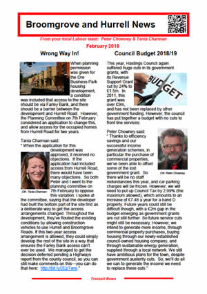 Broomgrove and Hurrell News March 2018