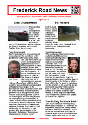 Frederick Road News April 2018