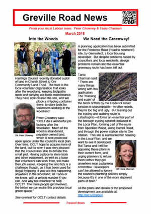 Greville Road News March 2018