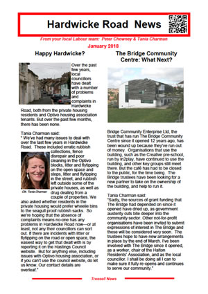 Hardwicke Road News January 2018