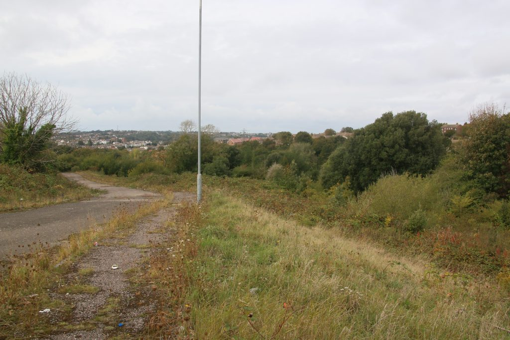 Frederick Road Road to Nowhere site