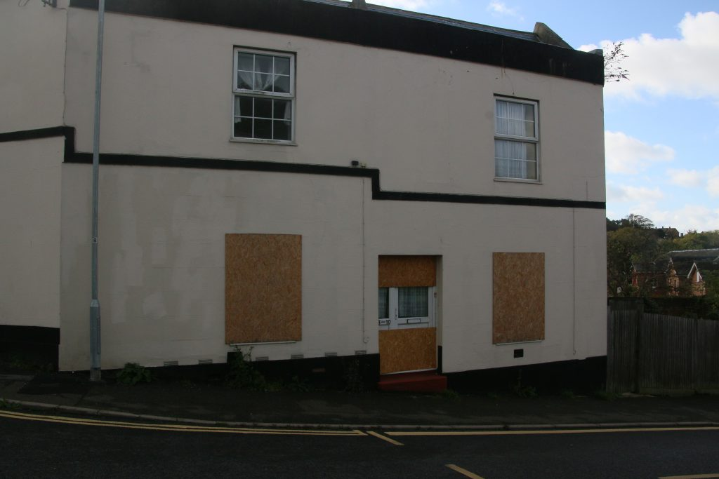 Boarded up house in Clifton Road