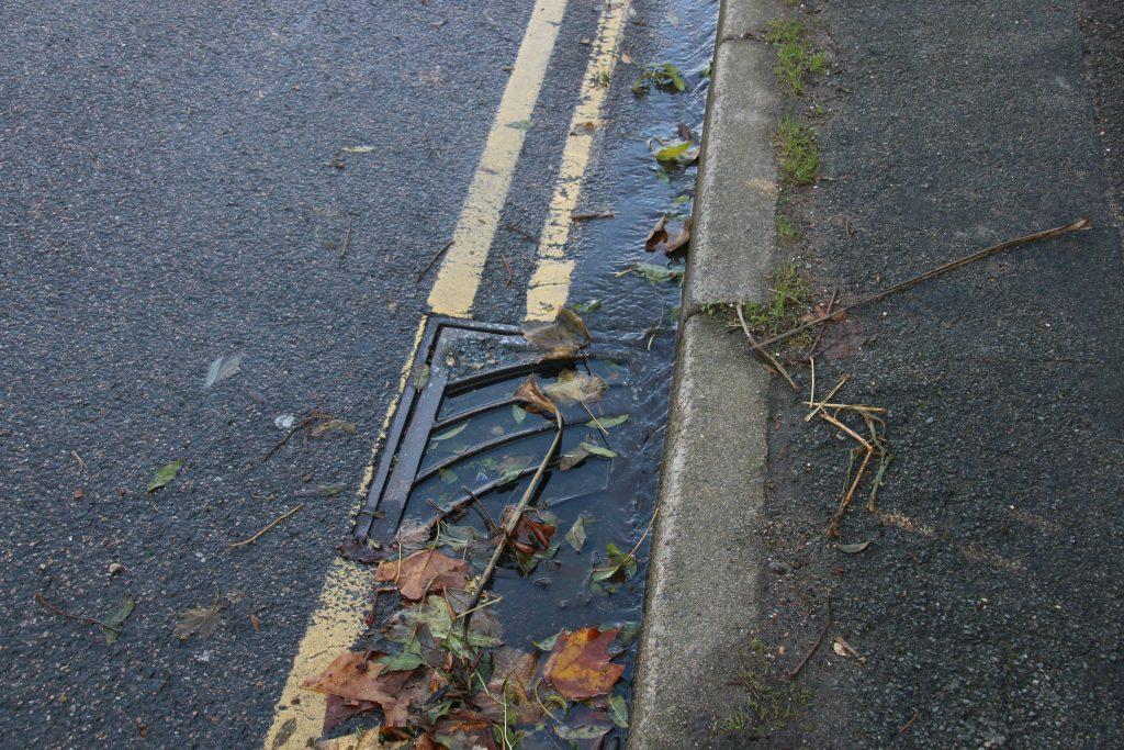 Blocked gulley drain