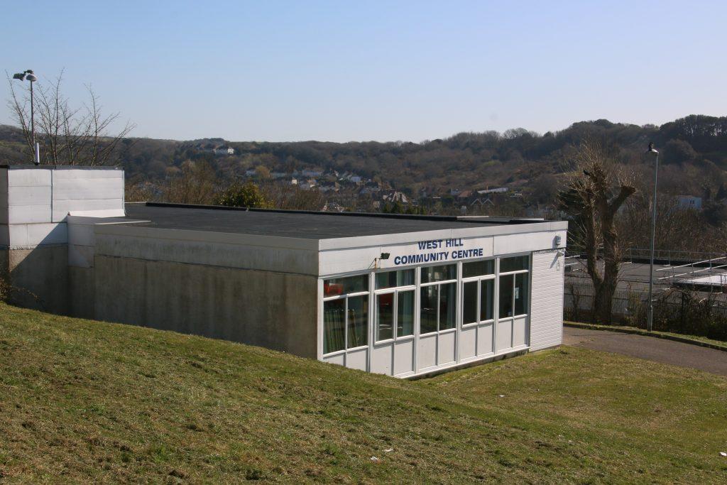 Single storey flat roof prefabricated community centre